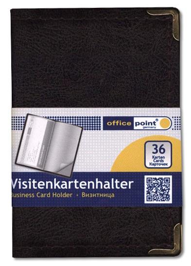 Визитница Office Point на 36 карт Premium чёрная