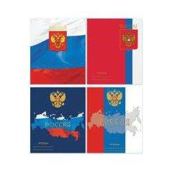 """Тетрадь общ. 48л.,А5 """"Россия"""" кл, скрепка"""