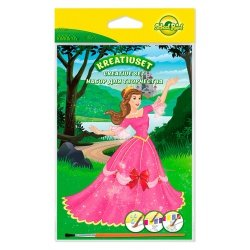 Набор для творчества School Point раскраска Princesse 8л+краски