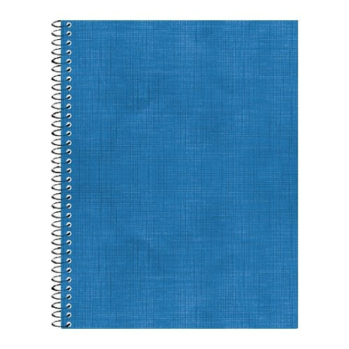 Тетрадь общ. 96л. А5 спир. б/в синий. клетка
