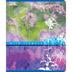 "Тетрадь общ. 48 л. А5 ""Flowers9"" мел. картон, скрепка"