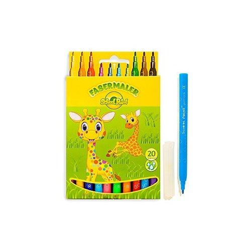 """Фломастеры School Point 20  цветов смываемые """"Жираф"""""""