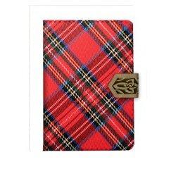 "Визитница ""Scotland"" на одно окно, 24 карты, текстиль, клапан"