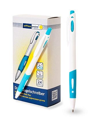 Ручка Office Point шариковая автоматическая 0.7 shuttlet 24шт/уп ассортимент