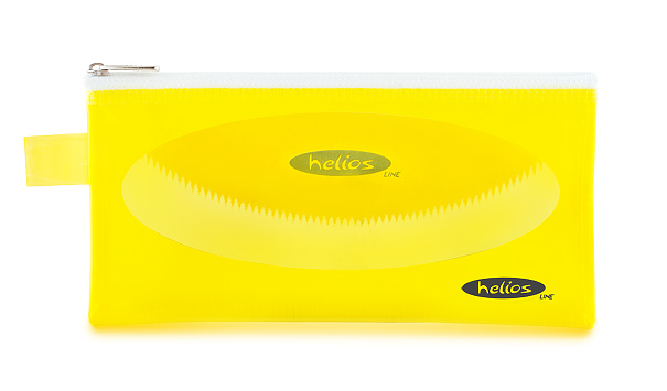 Пенал-косметичка Helios желтая