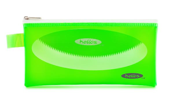 Пенал-косметичка Helios зеленая