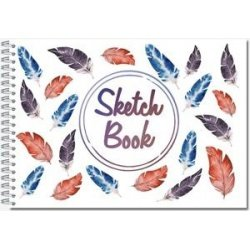Блокнот для зарисовок SKETCHBOOK , А6, 60л., гребень, нелин.пл 160гр, жест.подл.