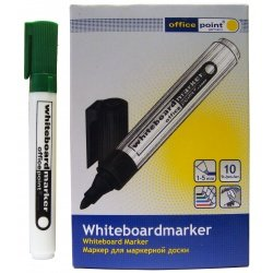 Маркер для маркерной доски Office Point зеленый