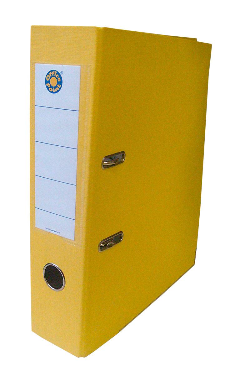 Папка-регистратор А4 5см Office Point сборная желтый