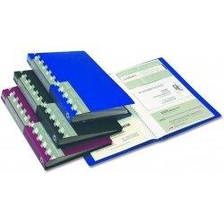 Визитница пластиковая Office Point на 120 карт синяя