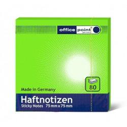 Блок  бумаги с клеевым краем Office Point 75 мм х 75 мм зеленый
