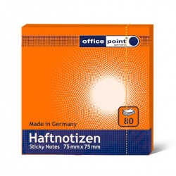 Блок  бумаги с клеевым краем Office Point 75 мм х 75 мм оранжевый