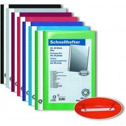Скоросшиватель А4 с верхним прозрачным листом Office Point синий