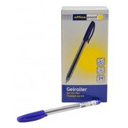 Ручка Office Point гелевая прозр.OG-515 0.7 син.