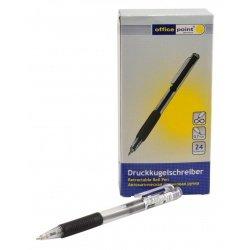 Ручка Office Point шариковая автоматическая B-522 0.7 чёрная