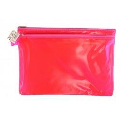 Папка пластиковая А4 Helios с молнией 2 отделения розовая