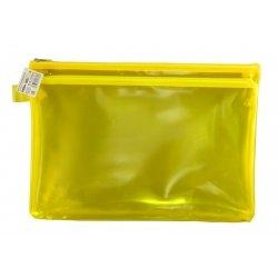 Папка пластиковая А4 Helios с молнией 2 отделения жёлтая