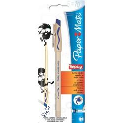Ручка шариковая Paper Mate Replay со стираемыми чернилами в блистере синяя