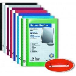 Скоросшиватель А4 с верхним прозрачным листом Office Point  25шт/уп ассортимент