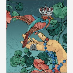 "Тетрадь общая 96 л, А5 (170*203) ""Царство природы"" кл, гребень, 4 дизайна, УФ лак"