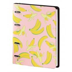 """Тетрадь """"Banana"""", розовый 175х212 мм, 120 л., клетка, кольцевой механизм"""