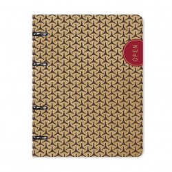 "Тетрадь ""Eco"", коричневый 163х212 мм, 120 л., клетка, кольц. механизм, картон"
