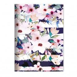"""Тетрадь """"Mon cher"""", цветы 194х266 мм, 40 л.,, мягк. переп, скрепка,  клетка"""