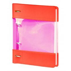 """Тетрадь """"Neon"""", оранжевый 175х212 мм, 120 л., клетка, кольцевой механизм"""