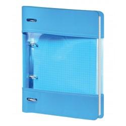 "Тетрадь ""Neon"", синий 175х212 мм, 120 л., клетка, кольцевой механизм"