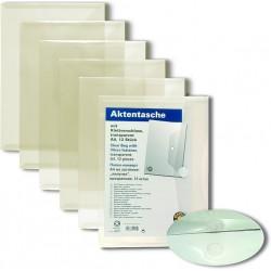 Папка пластиковая А4 конверт с липучкой Office Point 12шт прозрачная