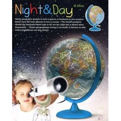 Глобус NIGHT&DAY D-25 см с подсветкой , итальянский яз.