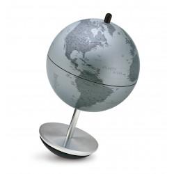 Глобус SEMPREINPIEDI D-11 см SILVER неваляшка, без  подсветки , англ. яз.