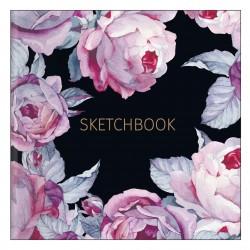 """Альбом для рисования """"Bloom"""" 170*170 мм/40 л, розовый,  мяг. переп, склейка"""