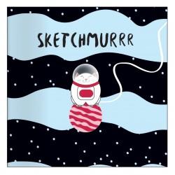 """Альбом для рисования """"Mur-Mur"""" 170*170 мм/40 л, космонавт,  мяг. переп, склейка"""