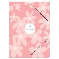 """Папка """"Dream"""" розовый, 170х220 мм, на резинке, картон"""