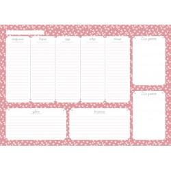 "Планнер недатированный ""Le petit"" розовый, 297х210 мм, 28 л, склейка"
