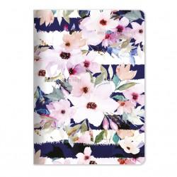 """Тетрадь """"Mon cher"""", цветы, 150х210 мм/48 л, мягк. переп.,скрепка,  клетка"""