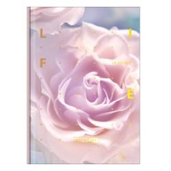"""Тетрадь """"Rose"""" светло-розовый, 140х200 мм/96 л. книжный переп, клетка"""