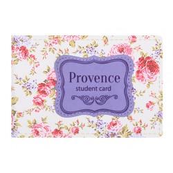"""Обложка для студенческого билета """"Provence"""" 112*83 мм иск. кожа"""