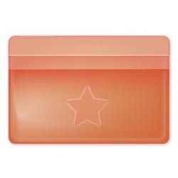 """Обложка для проездного билета """"Neon"""" оранжевый, 105*70 мм пластик"""