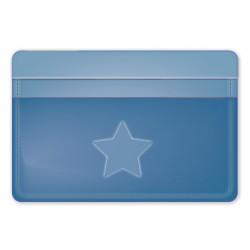 "Обложка для проездного билета ""Solo"" синий, 105*70 мм пластик"