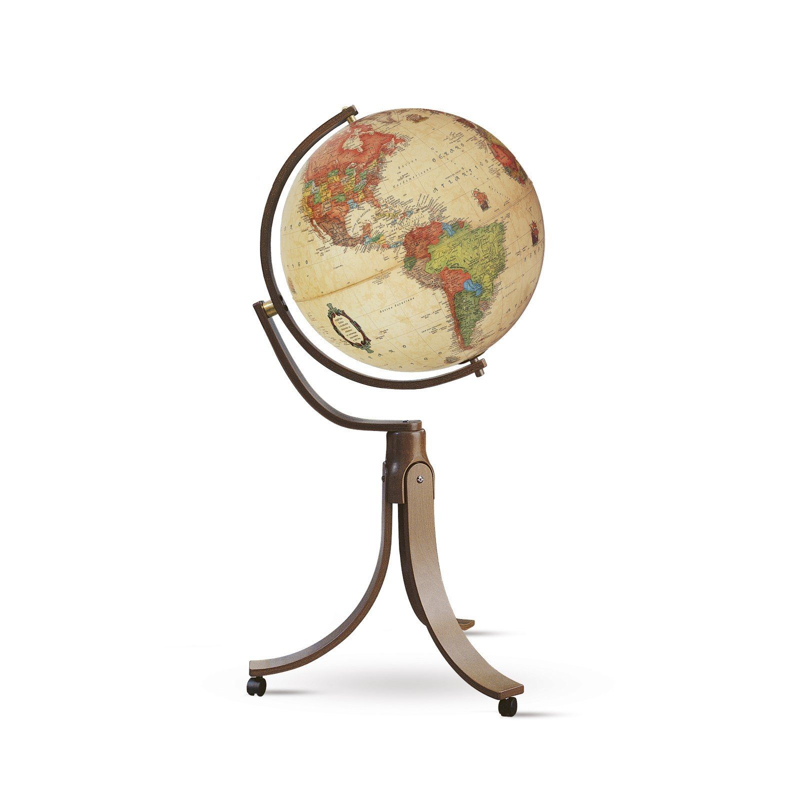 Глобус EMILY ANTIQUE D-50 см с подсветкой, русский язык