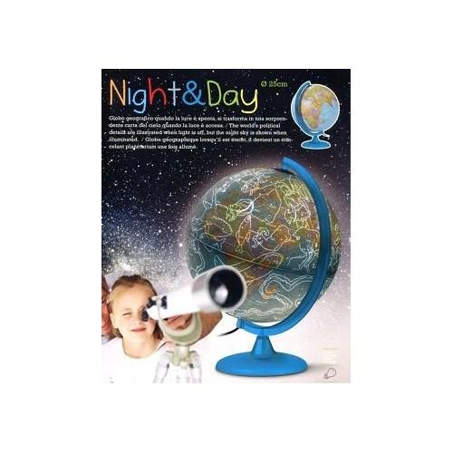 Глобус NIGHT&DAY D-25 см с подсветкой, русский язык