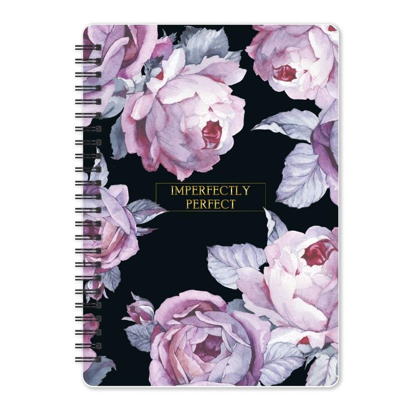 "Тетрадь ""Bloom"", розовый,144х204 мм/120 л, тверд.. переп.,спираль,  клетка"