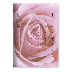 """Тетрадь """"Rose"""" розовый, 150х210 мм/48 л, мягк. переп.,скрепка,  клетка"""