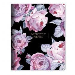 "Тетрадь ""Bloom"" розовый 165*203 мм/48 л, мягк. переп, скрепка,  клетка"
