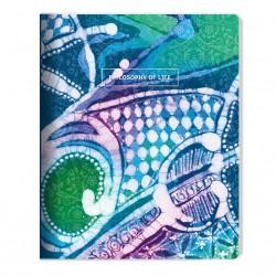 """Тетрадь """"Silk"""" бирюзовый 165*203 мм/48 л,,мягк. переп, скрепка,  клетка"""