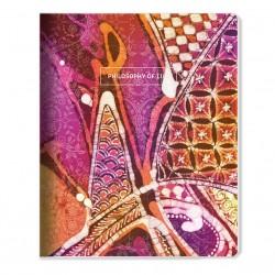 "Тетрадь ""Silk"" розовый 165*203 мм/48 л,,мягк. переп, скрепка,  клетка"