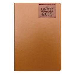"""Ежедневник датированный 2019 """"Limited"""" 140х200 мм, 352 стр.,коричневый, твердый переплет"""
