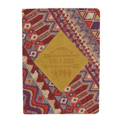 """Ежедневник не датированный """"Folk"""" 120х170 мм, 320 стр.,бордовый, суперобложка"""